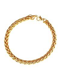 U7 3mm-9mm Stainless Steel Twisted Rope Wheat Chain Bracelet,8.3 Inches Length