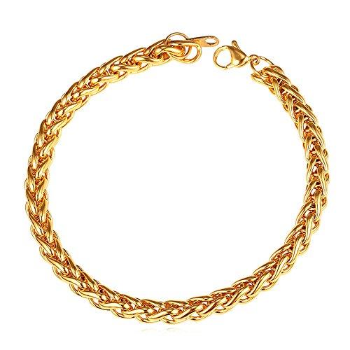 U7 3mm 9mm Stainless Twisted Bracelet