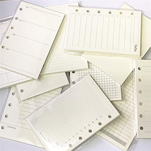 A7 Planner Inserts for 11 Packs, A7 Agenda Refill, 100gsm Thicker Paper/4.84 x 3.23, Harphia