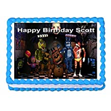 FNAF: Five Nights at Freddy's: Personalized Edible Cake Image