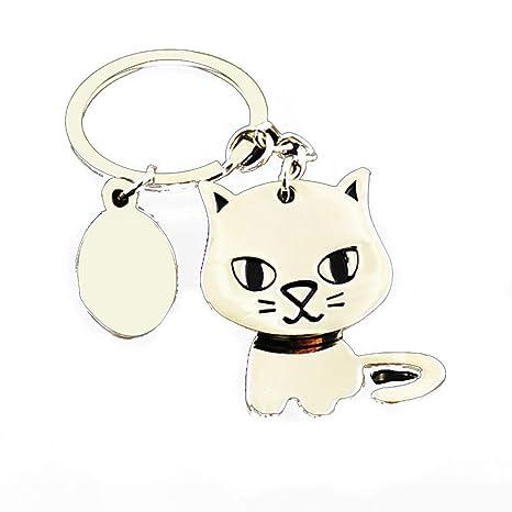 Nicedeal linda del gato llavero gatito llavero para las fuentes clave del monedero del bolso colgante