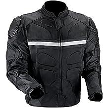 [Patrocinado] Chamarra de motociclista, camuflaje, de Viking Cycle, para hombre, M, Negro