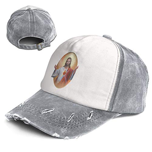 Vintage Sacred Heart of Jesus Pictures Cotton Adjustable Washed Dad Hat Baseball Cap ()