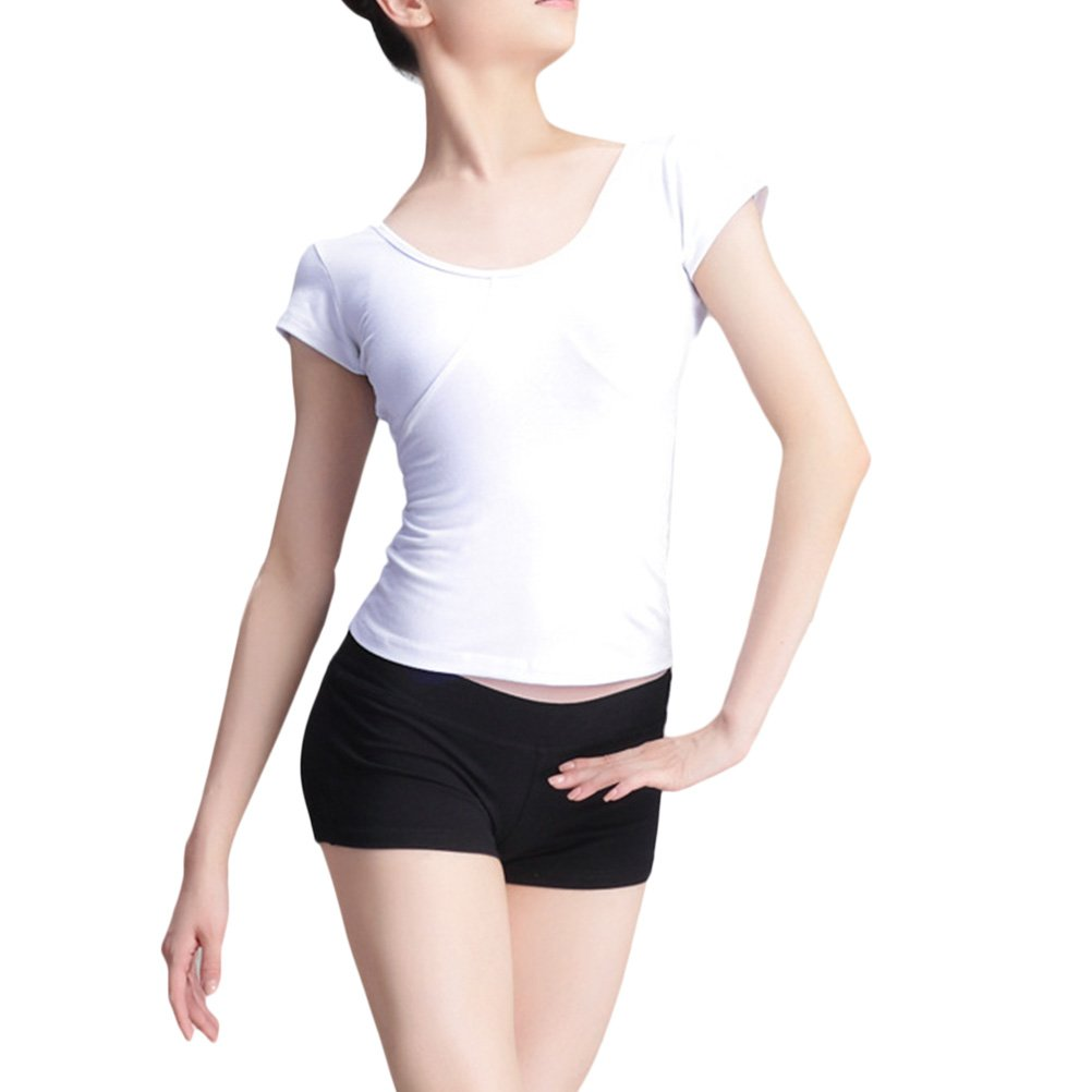 Zhhlinyuan Women Quick Dry Short Sleeve T-Shirt Cotton ...