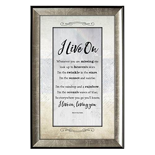I Live On Soulful Journey Framed Wall (Bereavement Plaque)