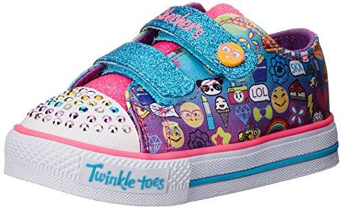 Skechers Kids Twinkle Toes Shuffles Sweet Steps Light-Up ...