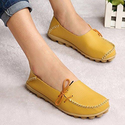 Cuero Mujer Zapatillas Zapatos Loafers Oriskey Casual De Mocasines SMGpUVLqz