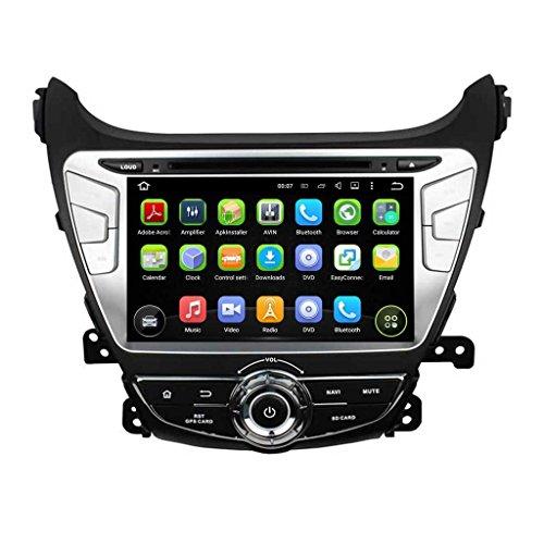 8 Inch 2 Din Android 5.1.1 Lollipop OS Car Radio Player for Hyundai Elantra(2014 2015),Quad Core 1.6G Cortex A9 CPU 16G Flash 1G DDR3 RAM 1024x600 Touchscreen GPS DVD Aux Input OBD2