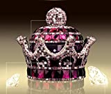 Mini-Factory 3D Bling Crystal Gemstone Diamond Purple Crown Design Refillable Glass Air Freshener Perfume Bottle for Car / Home / Office Decoration (Bottle Only, Perfume NOT included)