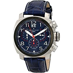Christian Van Sant Men's CV3AU3 Grand Python Stainless Steel Watch with Faux-Leather Band