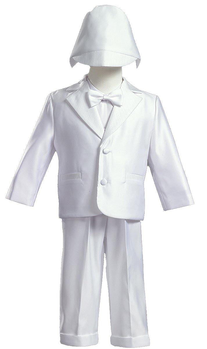 White Satin Christening Baptism Tuxedo - L (9-12 Month) LT8860-L