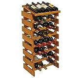 32-Bottles Wine Rack in Medium Oak Finish