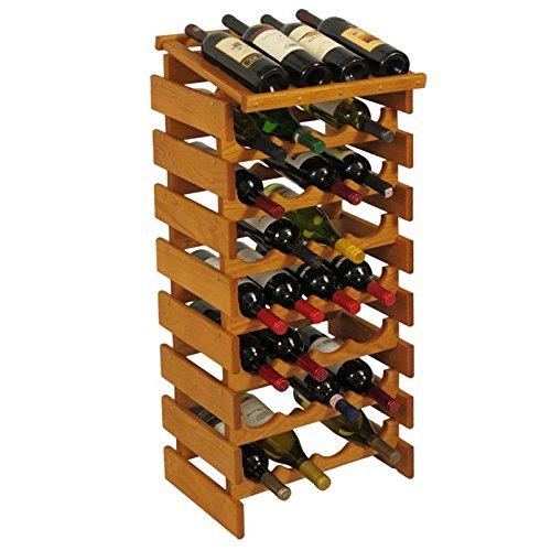 32-Bottles Wine Rack in Medium Oak Finish by Wooden Mallet (Image #1)'