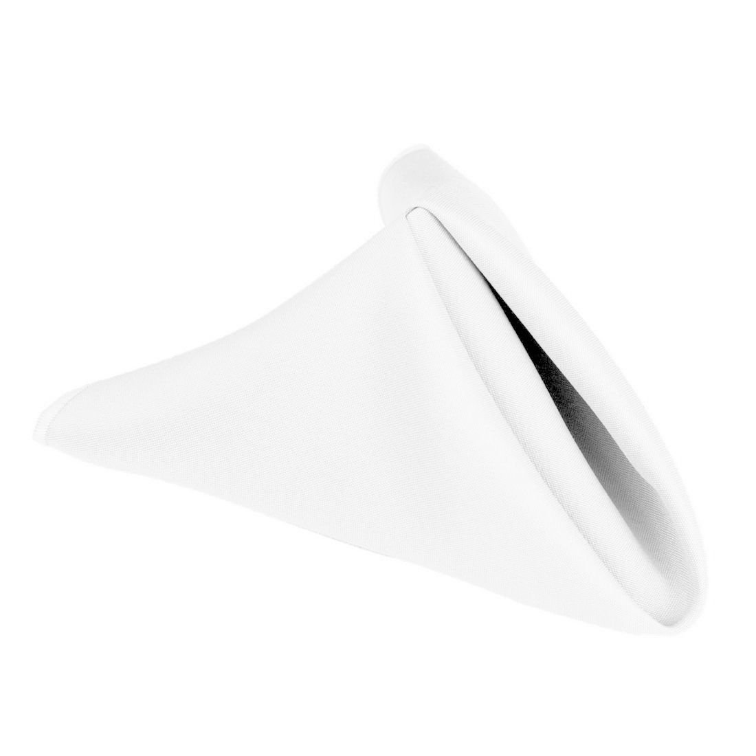 LinenTablecloth 17-Inch Polyester Napkins (1-Dozen) White