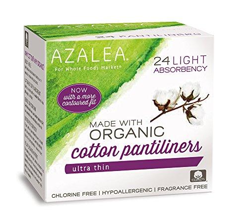 Azalea, Made with Organic Cotton Pantiliners, 24 ct Cotton Pantiliners