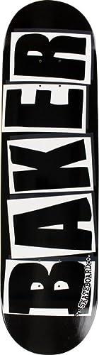 Baker Brand Logo Black / White Skateboard Deck - 8.25 x 31.875