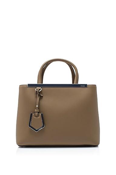 Fendi sac à main femme en cuir petite 2jours marron  Amazon.fr ... 80233fecc7b