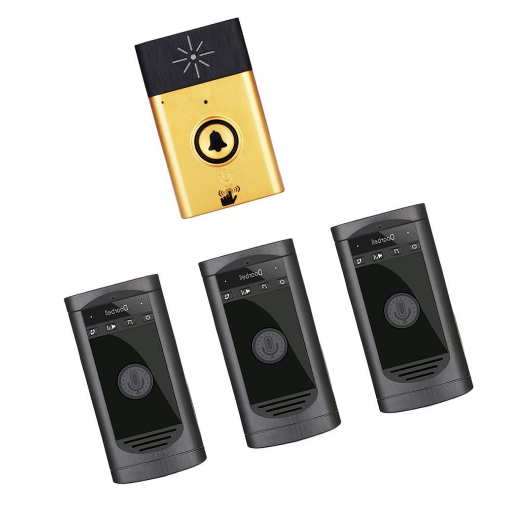 Sharplace Portable Intelligent Sans Fil Sonnette Interphone Vocal Sécurité à Maison - argent