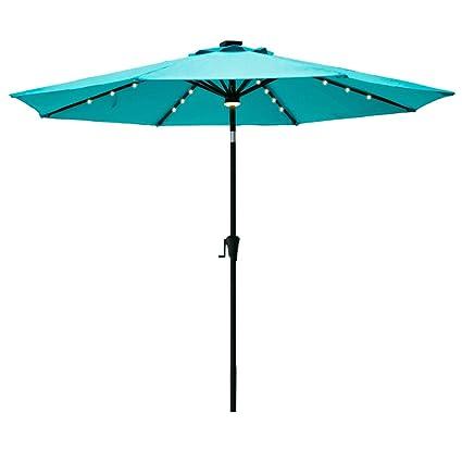 Amazon Com C Hopetree 9 Patio Umbrella Solar Led Lights 8 Rib