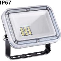 10W Proyector LED exterior IP67 Impermeable Foco exterior 1000 lumen Blanco frío 6500K Iluminación Led Floodlight para jardín garaje estacionamiento almacén Iluminación del paisaje