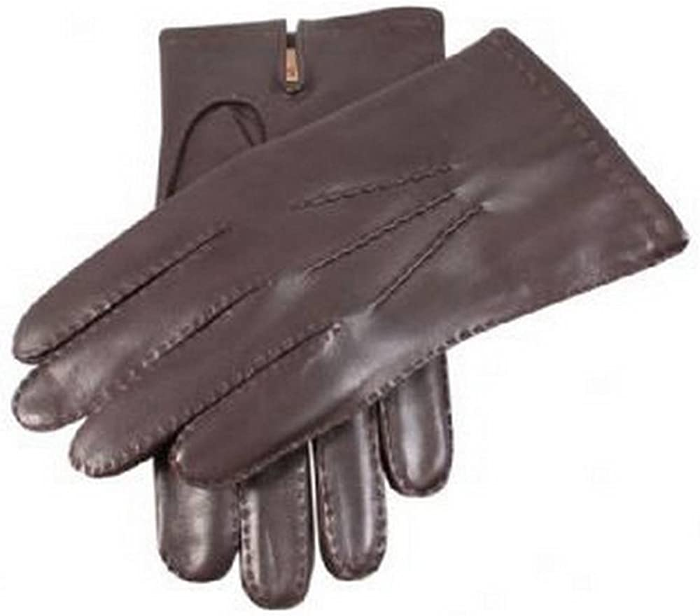 Dents Mens Cashmere Lined Chelsea Leather Gloves Brown