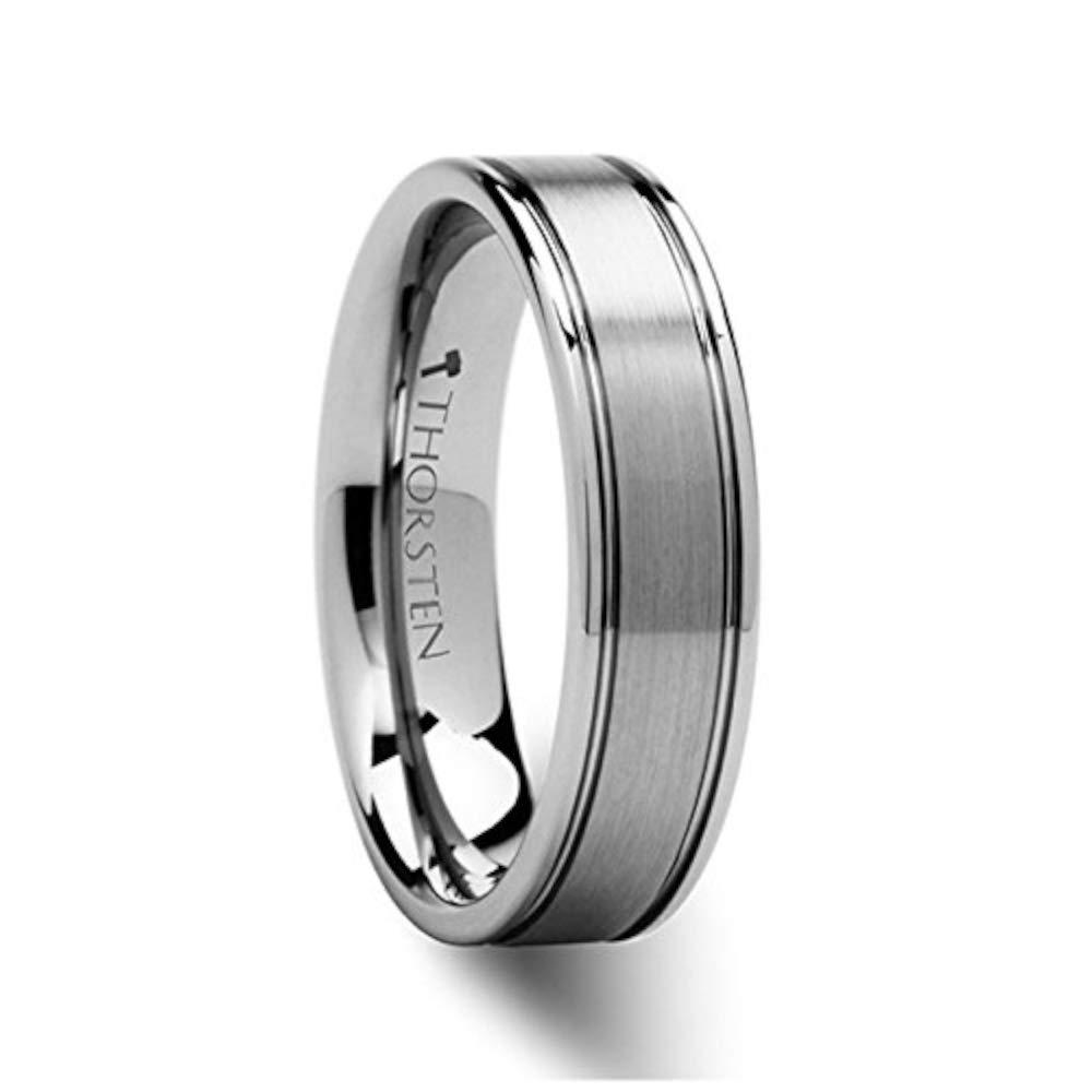 BRIDGEPORT Flat Satin Finish Tungsten Carbide Ring - 6mm - FREE Engraving