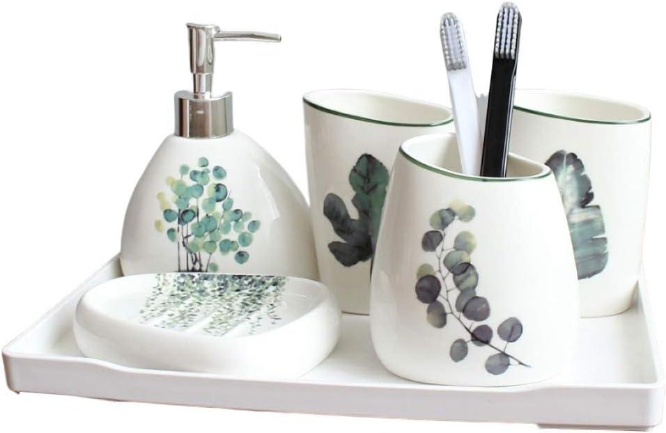 Mundspülbecher Seifenspender Seifenschale Zahnbürstenhalter Set