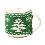 giveyoulucky Christmas Snowflake Elk Xmas Tree Cup Mug Cover Sleeve Home Kitchen Table Decor New year's Gift Christmas Tree