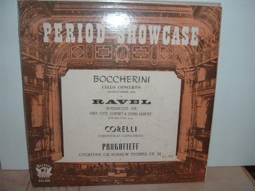 Janos Starker, cello, & Edward Vito, harp perform Boccherini Cello Concerto and selections by Ravel, Corelli & Prokofieff