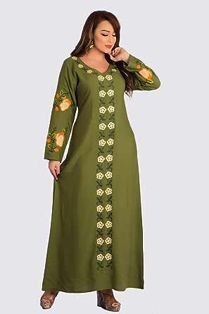 عباية كاجوال للنساء، اخضر، X