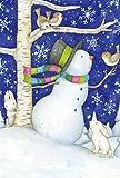 Toland Home Garden Critter Snowman 12.5 x 18-Inch Decorative USA-Produced Garden Flag