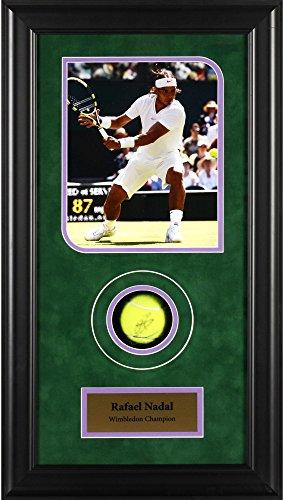Rafael Nadal Autographed Tennis Ball Wimbledon Shadowbox - Fanatics Authentic Certified - Autographed Tennis Ball Shadowboxes