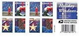 Office Products : USPS Holiday Windows Forever Stamps Book of 20