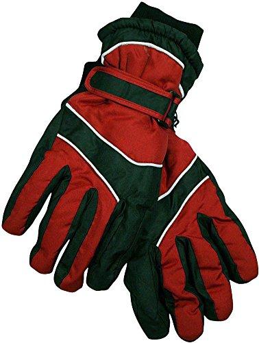 Winter Warm-Up - Ladies Microfiber Gloves, Brick Red, Black 28524-Large