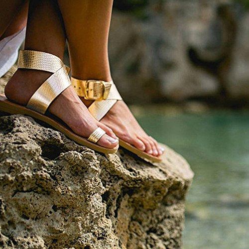 Femmes Ceinture Clip Bascule Panpany Femme ❤️sandales Plates L'orteil nbsp;rome De Plage Lanière Flops Croisée Les Sandales Or Plat Chaussures Gladiateur 6wwIEqxWzd
