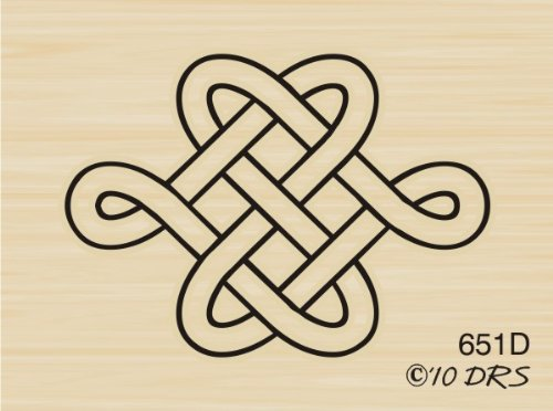 (Celtic Knot Rubber Stamp By DRS Designs)
