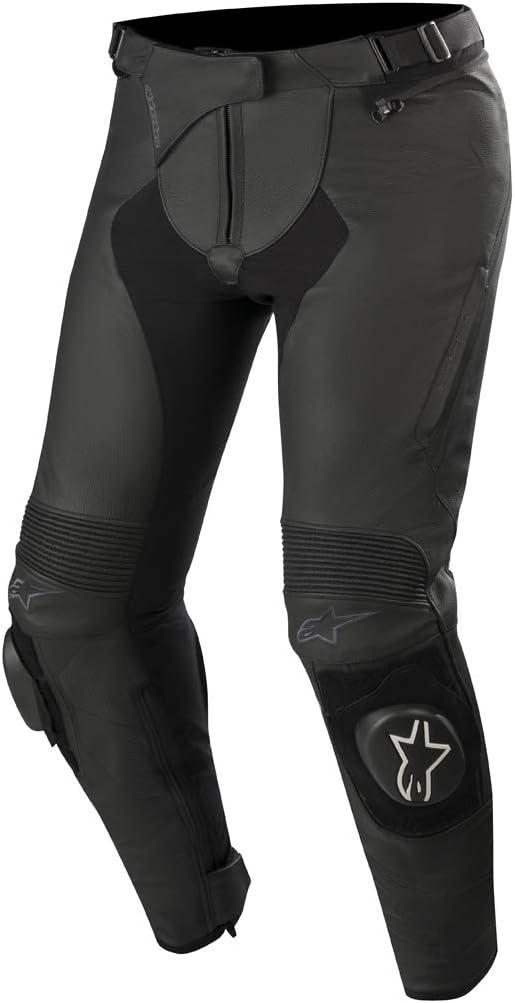 Alpinestars Stella Missile v2 - Pantalones de cuero para mujer, color negro, talla 48