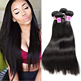 Colorful Queen Brazilian Virgin Hair Straight Remy Human Hair 3 Bundles Weaves 6A Unprocessed Hair Extensions Natural Color 12 14 16inch offers