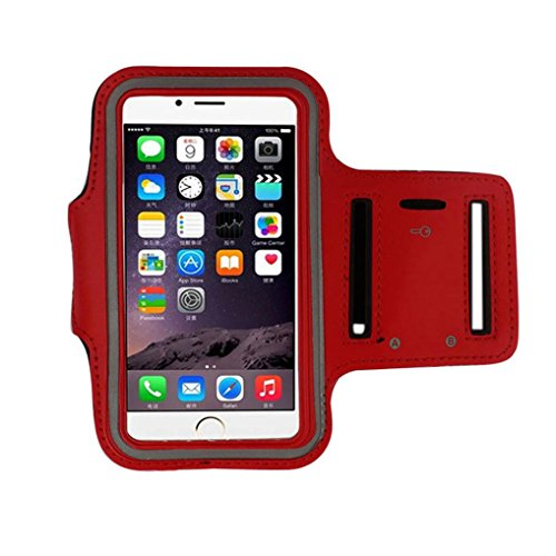 GBSELL Armband Gym Running Sport Arm Band Cover Case For iphone 6s Plus 5.5Inch (Red) - Sporty Neoprene Phone Case