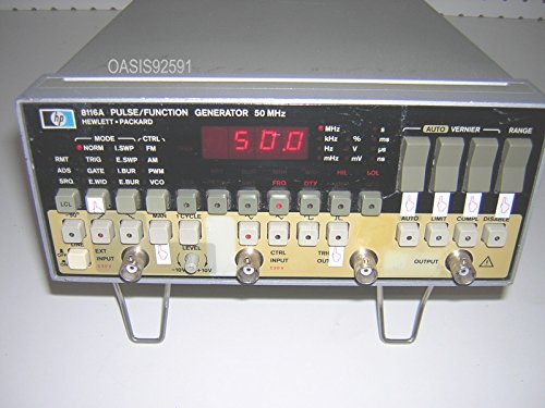 Packard Generator Function Hewlett - HP 8116A 50 MHz Pulse / Function Generator
