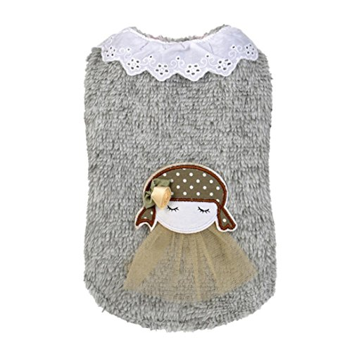Elevin(TM)Pet Puppy Dog Cat Little Girl With Sweater Charm Apparel Warm Winter Shirt Woolen Sweater Costume Jacket Coat Clothes (XS, gray)