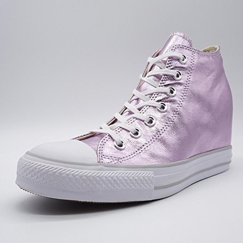 Femme Mid All Rose Lux Star Converse Taylor Baskets Canvas Metallic Chuck Mode q8SwwIxE7