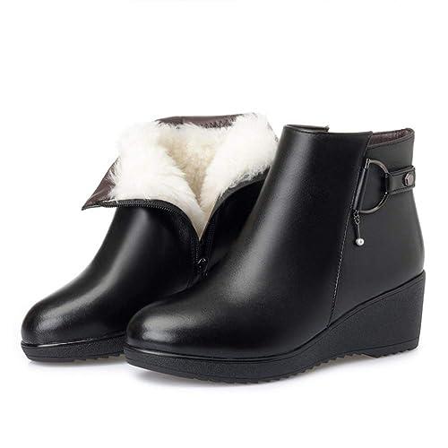Mujer Abrigados Botines Con Cuña Tacón De Otoño E Para Zapatos qnAnXrwx b8fb2614f232