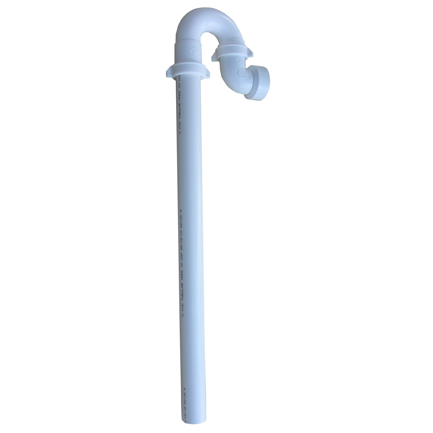 LASCO 03-4337 Plastic Tubular Washing Machine Trap with Stand Pipe and Elbow for DWV Pipe Connection, 1 1/2-Inch, White