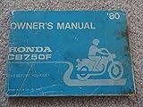 1980 Honda CB750F Owners Manual CB 750 F