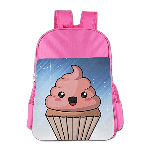 Ongshuquwe Cupcake Poop Leisure Children Cute Cartoon Schoolbag Pink