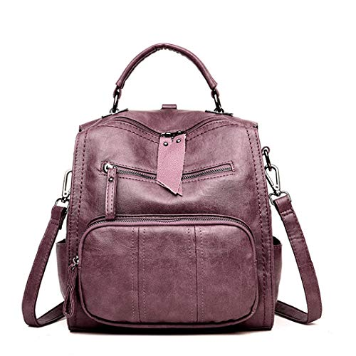 école voyage dos femmes Gensotrn bandoulière dos Purple sac sac femme En cuir sac sac UvqBH4