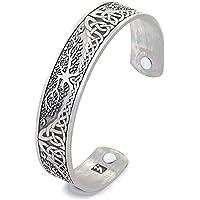 Heren armband, stijlvolle magnetische gezondheid armband voor evenwicht en energie armband,Silver