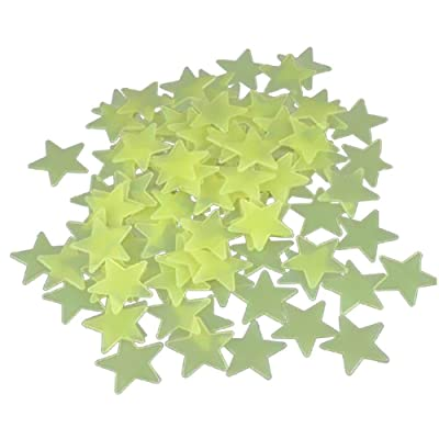 100 X Yonger Wall Glow in the Dark Small Stars Wall Stickers Dreamlike Decal for Home Ceiling Wall Baby Kids Bedroom: Home Improvement
