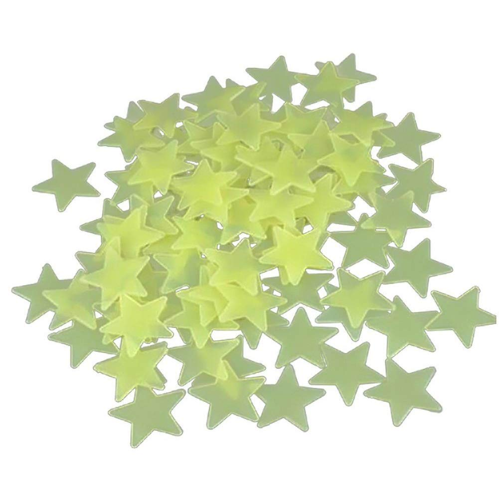 100 X Yonger Home Wall Glow in the Dark Small Star Stickers Decal Baby Kids Room